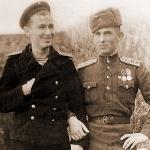 Я и Виктор (брат). Пионерск, 14.11.1948