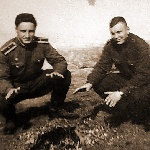 ВАШПОЛ,  г. Уральск. Однокашники Демидов В.В. (слева) и Ломухин в Уральске после субботника