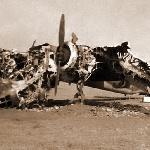 На полигоне: старый, отлетавший своё Ту-2 после атаки маршала авиации Савицкого (полигон Бердянск, 1954 год)