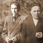 Михаил Константинович Архангельский (слева). 1960 год.