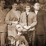 Выезд в весенний лес. Семьи Архангельских и Бычковых. Подполковник Бычков в 1958 году был командиром 1-й эскадрильи в полку полковника Крюк. Бутурлиновка.