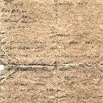 Боевое донесение, написано рукой самого лётчика. Стр. 1