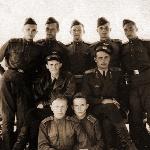 7-я лётная группа (1953 год). Верхний ряд в центре курсант Белошапко Л.М.