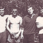 Слева направо: В. Говоров, С. Ашуров, В. Дурандин, В. Трубников
