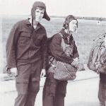 В ожидании посадки в самолет на первых (Борисоглебск, 1973 год) прыжках