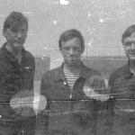 Жердевка 1987 г: я, наш лётчик-инструктор ст.л-т Колесник И.А., Марсель Галимов